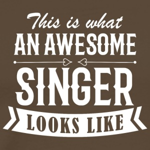 Awesome Singer - Herre premium T-shirt