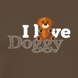 I love all the doggies around the world - Männer Premium T-Shirt