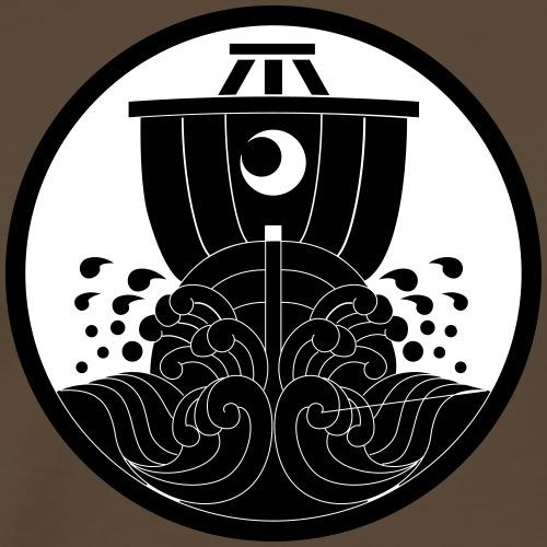 Japanese motif ship - Men's Premium T-Shirt