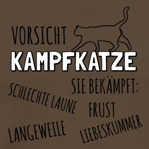 Attention Kampfkatze - T-shirt Premium Homme