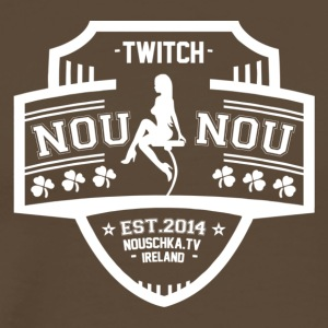 Nouschkasplay Team Logo Twitch White_01 - Männer Premium T-Shirt