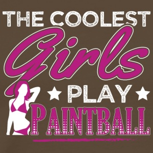 COOLEST GIRLS PLAY PAINTBALL - Men's Premium T-Shirt
