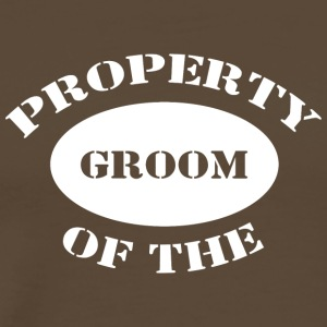 Just Married Property of The Groom - Men's Premium T-Shirt
