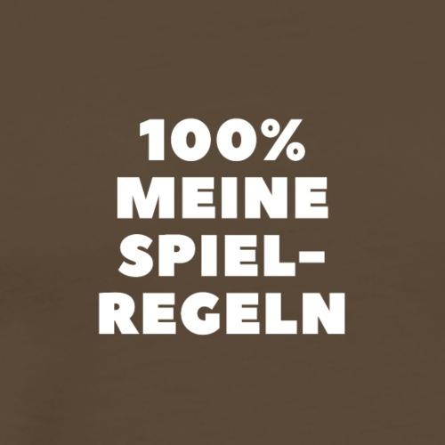 100% meine Spielregeln - weiß / white - Männer Premium T-Shirt