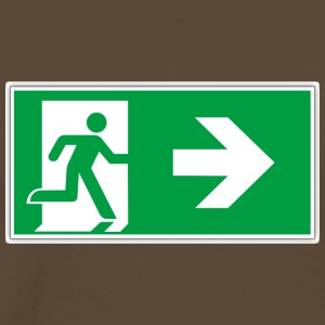 Rescue sticker sticker emergency exit after right - Men's Premium T-Shirt