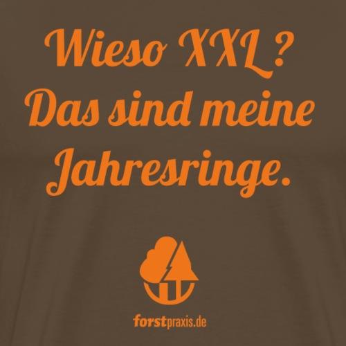 forstpraxis Jahresringe orange - Männer Premium T-Shirt