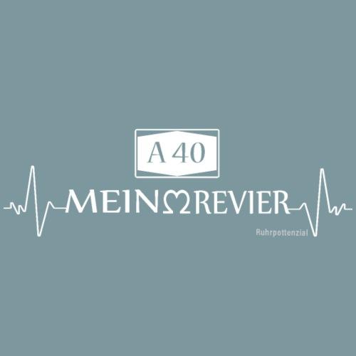A40 Mein Revier (weiß) - Männer Premium T-Shirt