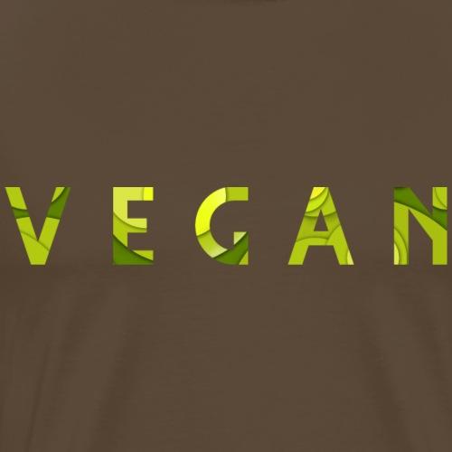 Vegan Typo - Männer Premium T-Shirt