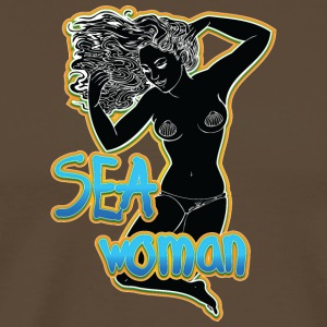 SEA woman black - Men's Premium T-Shirt