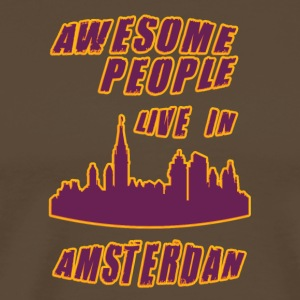 aMSTERDAM Awesome people live in - Men's Premium T-Shirt