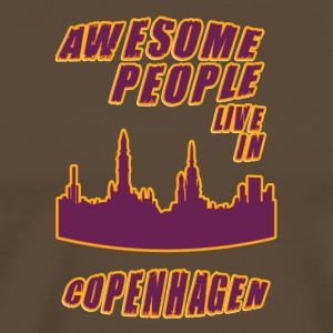 COPENHAGEN Awesome people live in - Men's Premium T-Shirt