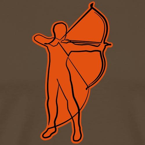 Archer Oneline (Bogenschießen by BOWTIQUE) - Männer Premium T-Shirt