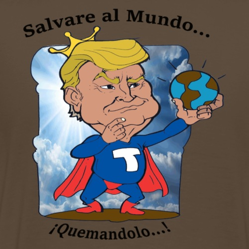 super trump salva al mundo español - Camiseta premium hombre