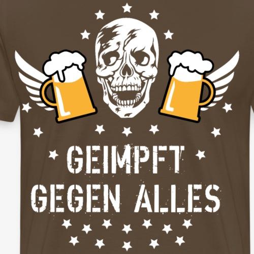 126 Totenkopf Mass Bier Geimpft gegen alles - Männer Premium T-Shirt