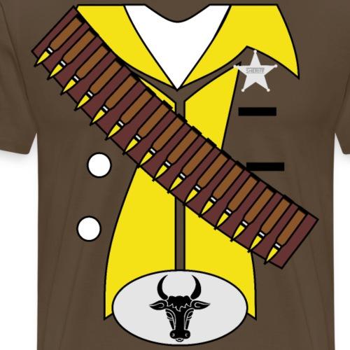 Cowboy Kostüm Sheriff Halloween Fasching Karneval - Männer Premium T-Shirt