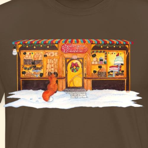 Boulangerie-Pâtisserie de Noël : Renard gourmand - T-shirt Premium Homme
