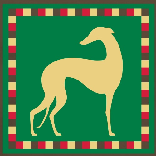 Greyhound Mosaïc - T-shirt Premium Homme