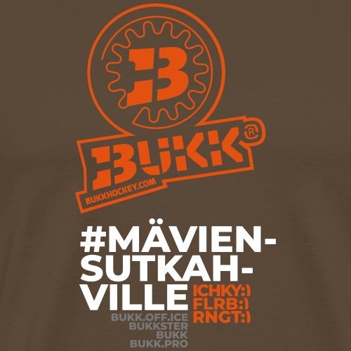 BUKK EMBL TXT orange - Miesten premium t-paita