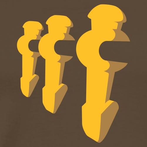 3er Kickershirt Logo ohne Ball - Männer Premium T-Shirt