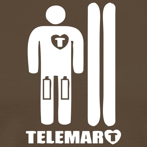 2017 TelemarCoeur a piles - T-shirt Premium Homme