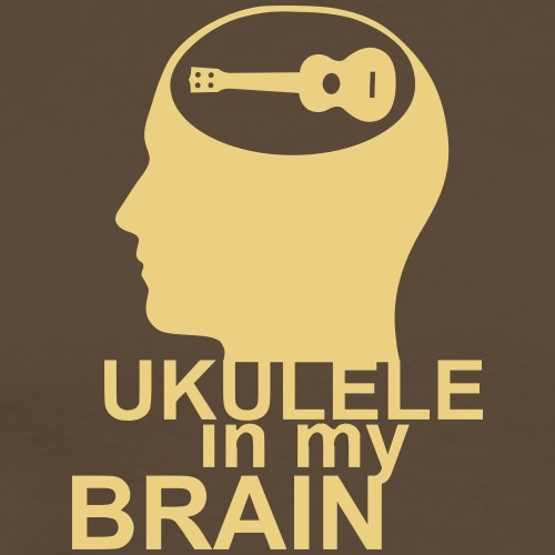 Ukulele in my brain - Männer Premium T-Shirt