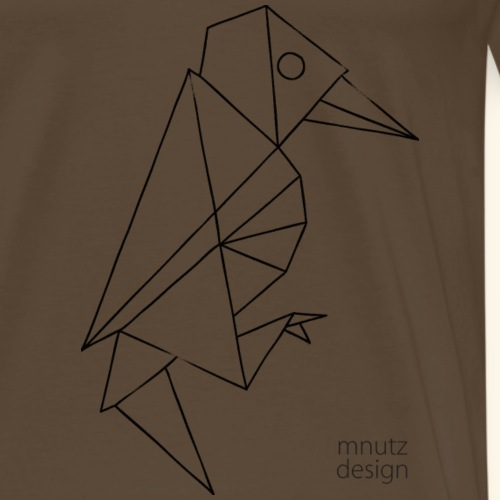 ORIGAMI - Specht - Männer Premium T-Shirt