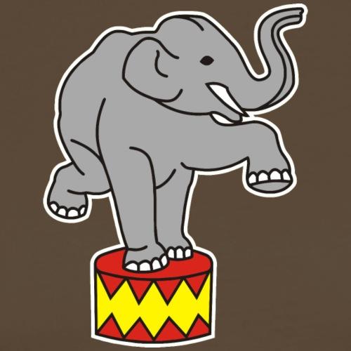 Zoo Zirkus Elefanten Circus Elephants Retro Comic - Männer Premium T-Shirt