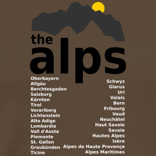 the alps - Männer Premium T-Shirt