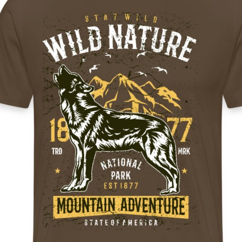 Wild Nature 1 - Männer Premium T-Shirt