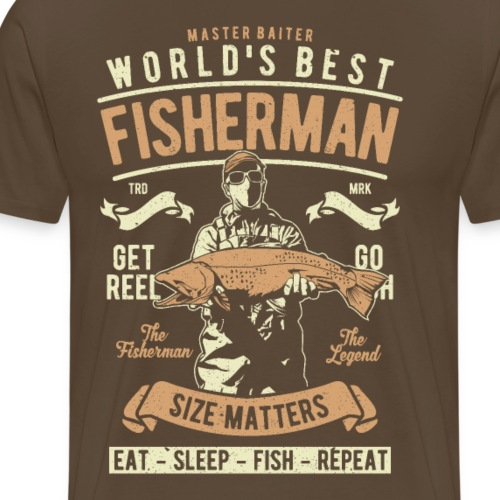World s Best Fisherman - Männer Premium T-Shirt