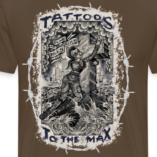 Punk Rock Of Ages Tattoos to the Max - Männer Premium T-Shirt