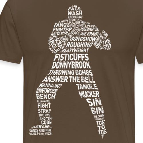 Hockey Enforcer Lingo (white print) - Men's Premium T-Shirt