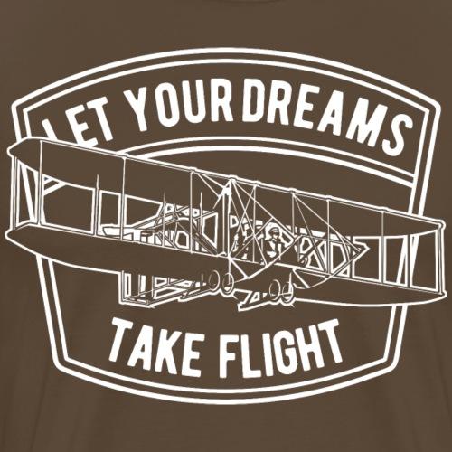 Lass deine Träume fliegen - Männer Premium T-Shirt