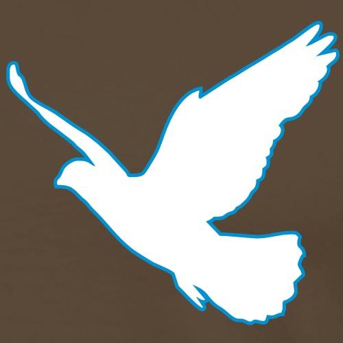 2 colors - Friedenstaube Dove Vogel Frieden - Männer Premium T-Shirt