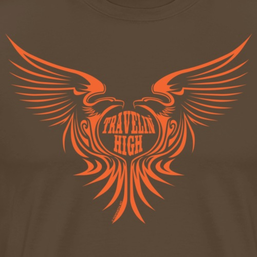 11A-04 TRAVELIN HIGH WINGS Textiles and gifts - Miesten premium t-paita