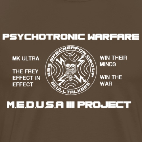 pshycotronic warfare white png - Men's Premium T-Shirt