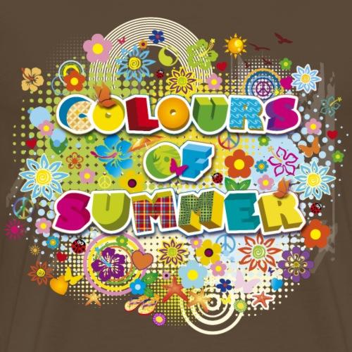 colours of summer flower power Sommer Blumenwiese - Men's Premium T-Shirt