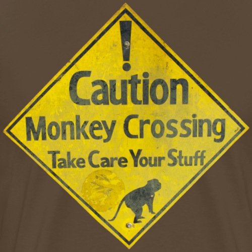 Caution Monkey Crossing - Männer Premium T-Shirt