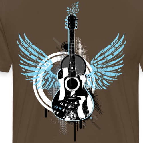 Gitarre guitar Flügel wings Graffiti Musik music - Men's Premium T-Shirt