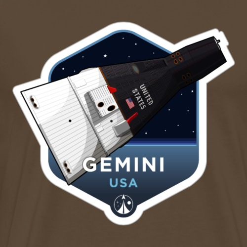 Space Race Series: GEMINI (Large print) - Men's Premium T-Shirt