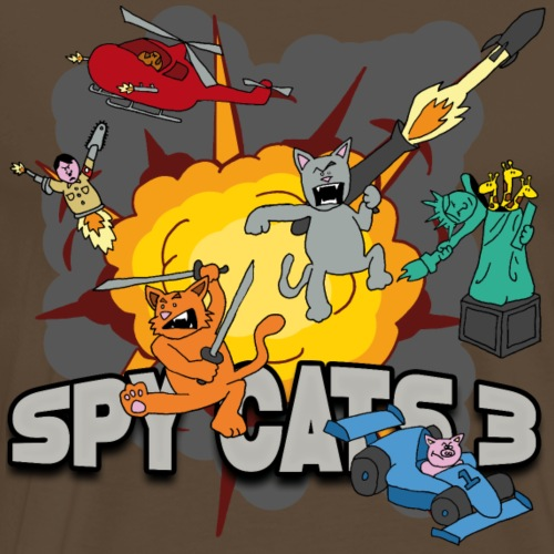 Spy Cats 3 - Mannen Premium T-shirt