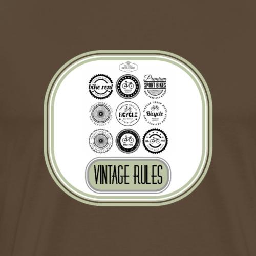 T SHIRT VINTAGE RULES - Mannen Premium T-shirt