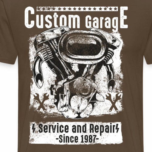 Custom Motorcycle Garage - Männer Premium T-Shirt