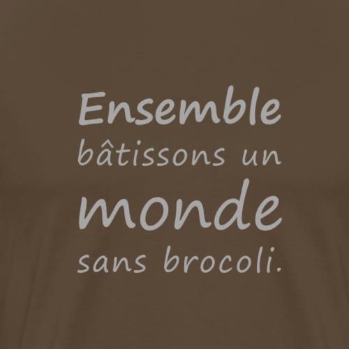 Un monde sans brocoli (gris) - T-shirt Premium Homme