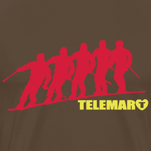 Rouge TELEMARK Virage Vestes - T-shirt Premium Homme