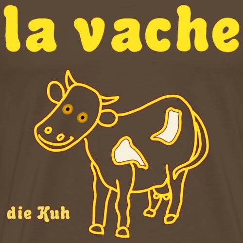 Die Kuh auf Französisch/ Deutsch - Männer Premium T-Shirt