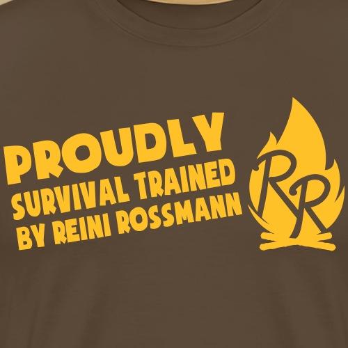 Survival Trained by Reini Rossmann - Männer Premium T-Shirt