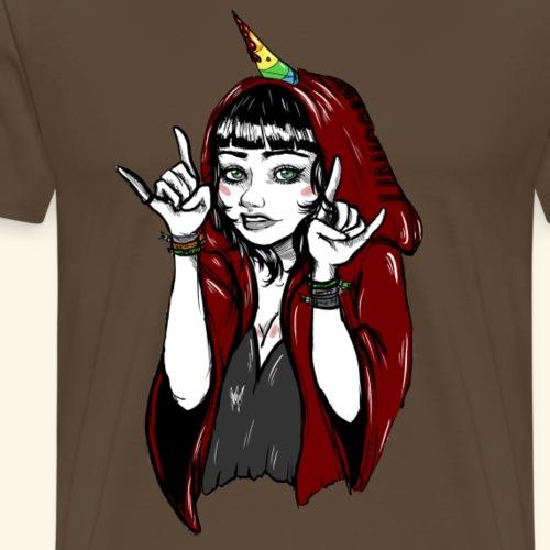Heavy Metal Unicorn - Männer Premium T-Shirt