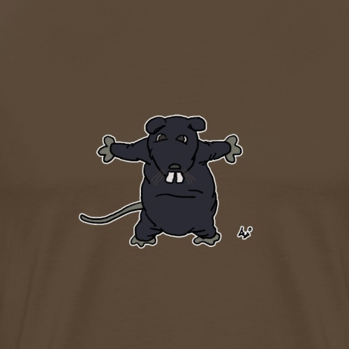 Henkie the Plush Rat - Herre premium T-shirt