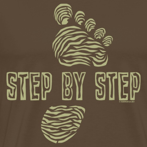 Step by Step - Traveller`s cool textiles and gifts - Miesten premium t-paita